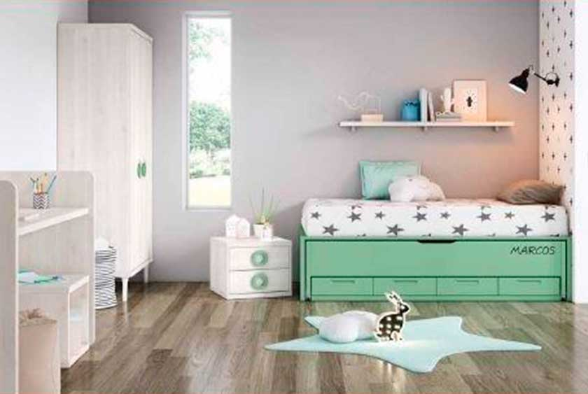 Dormitorio juvenil cuna, 1-2