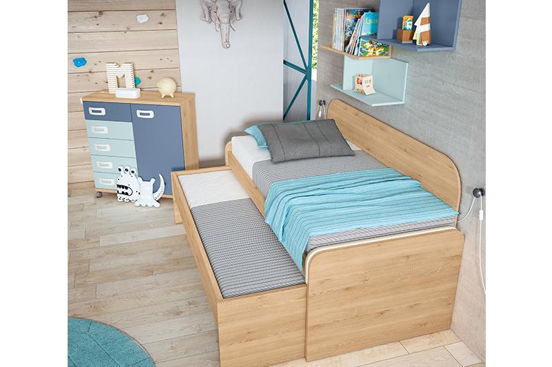 Dormitorio juvenil, 1j, detalle
