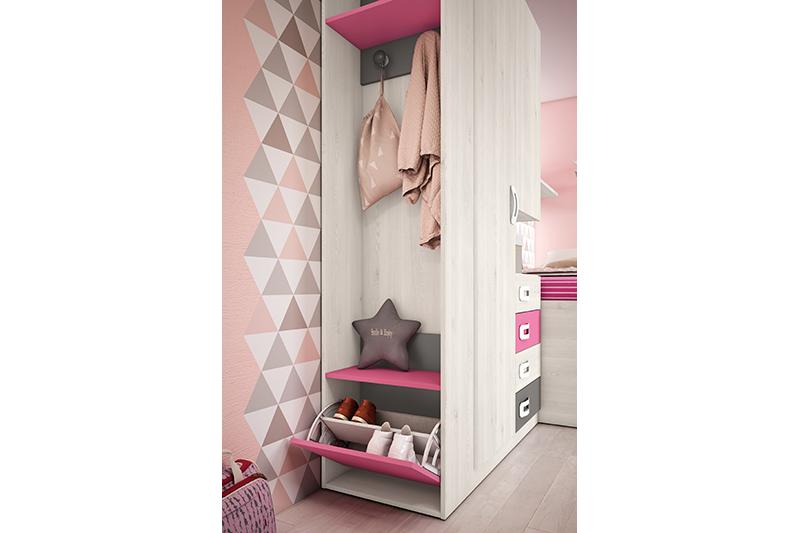Dormitorio juvenil, 6j, detalle 2